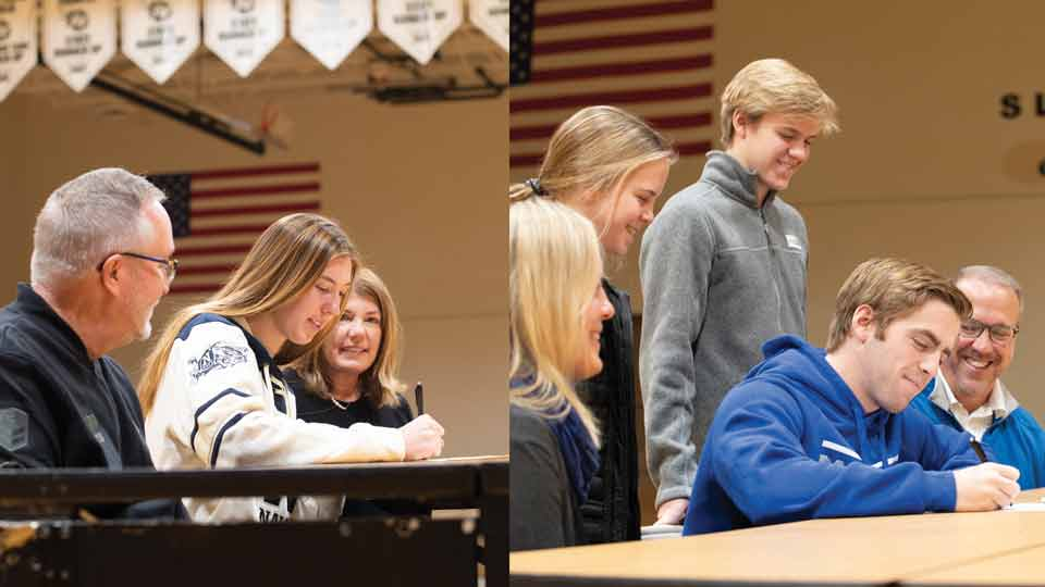 Two Athletes Sign National Letters of Intent Featured Image.